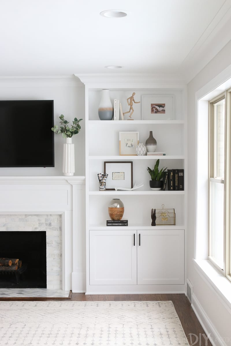 white built ins around the fireplace before and after diy shelves floating flanking playbook corner cabinet with glass bathroom mirror shelf mantel designs wood design your own