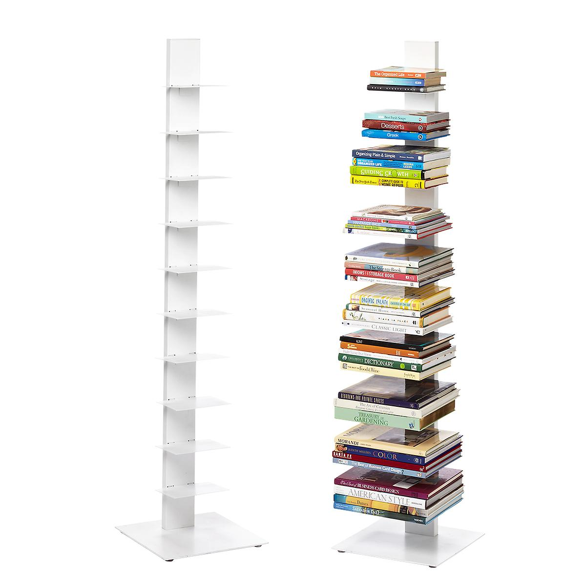 white floating bookshelf the container shelves for books sapien bookcase small spaces black wall corner shelf unit wooden tree bright solar lights mounted designs gloss home
