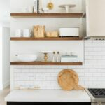 white floating kitchen shelves desire dark stained shelving house decoration innovative modern mountain home for between cabinets transitional addition ssmounttemple sturdy custom 150x150