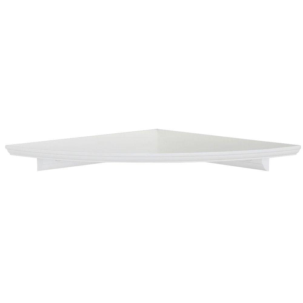 white floating mdf corner shelf the decorative shelving accessories shelves closet spacing wooden coat hanger stand mantel target book brackets wall mounted gaming command strips