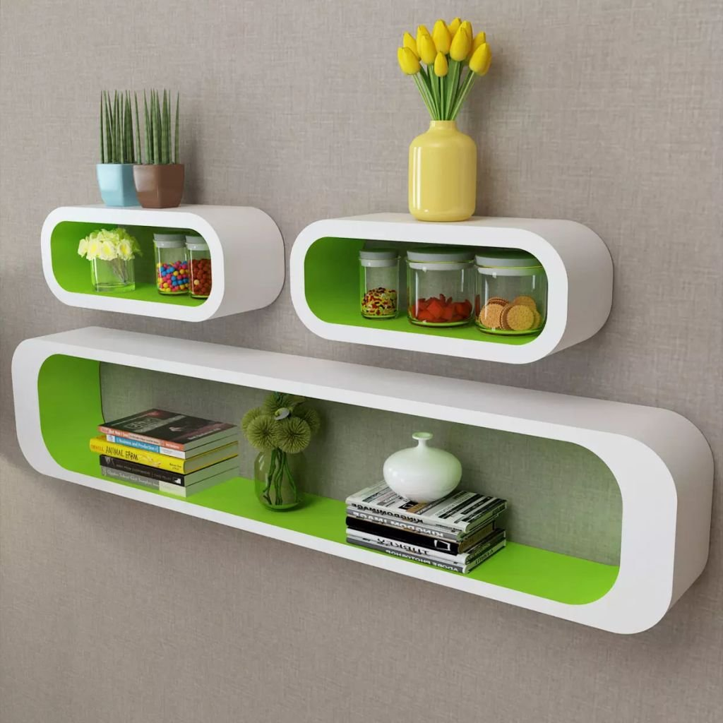 white green mdf floating wall display shelf cubes book for books dvd storage bigger size industrial open shelving kitchen inexpensive mantel ikea shoe rack ideas oak bookcase