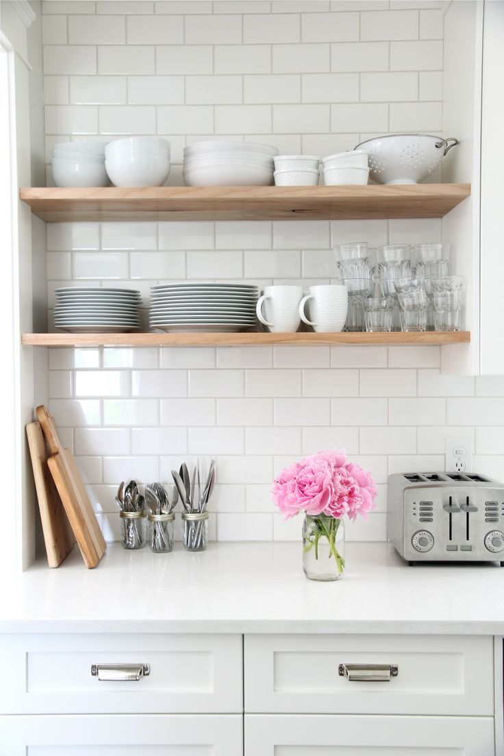 white kitchen open shelves home decor floating coat stand and shoe rack shelving towel storage unit closet pole height ikea infinity mounting heavy objects drywall cupboard boxes