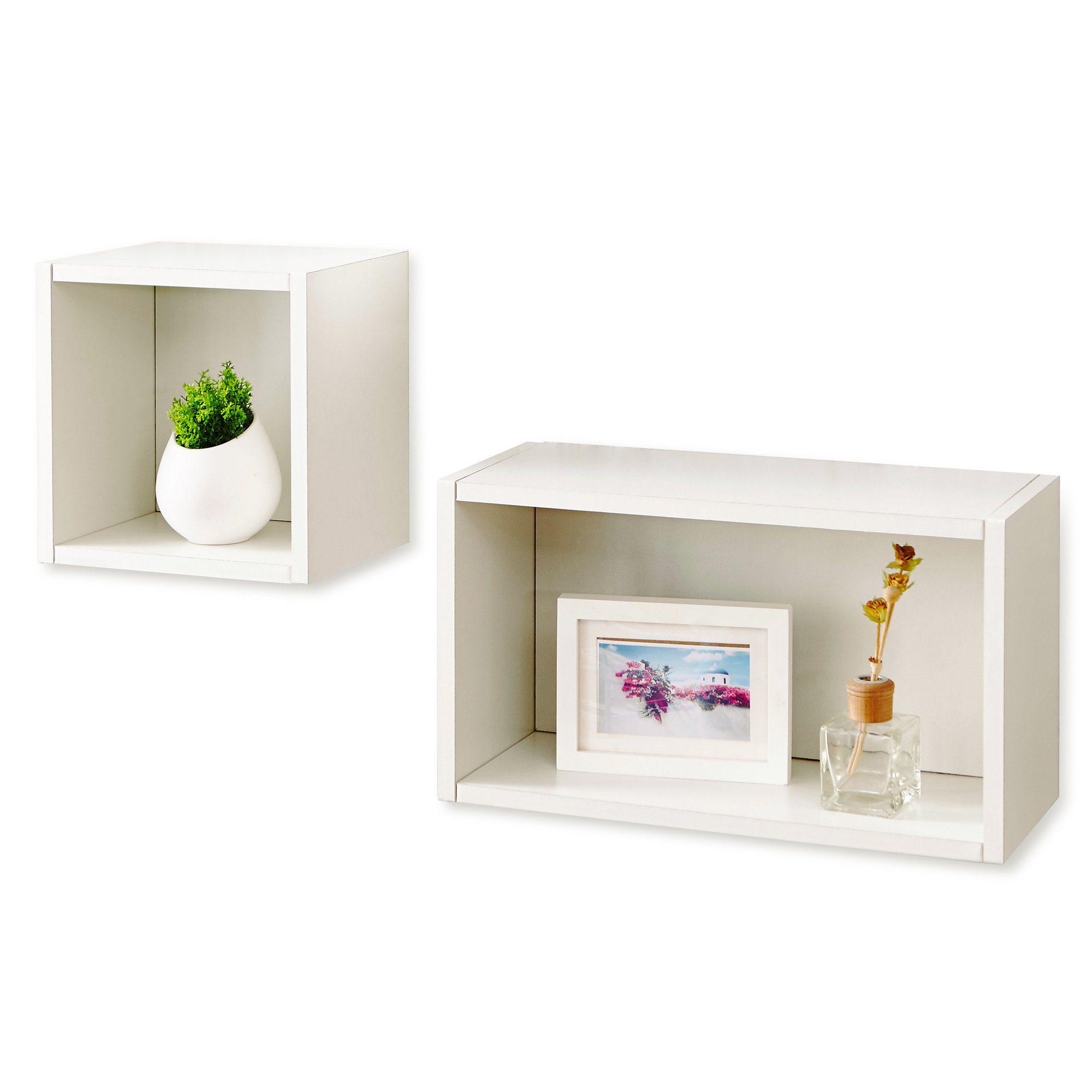 white wall cube rectangle combo and decorative shelf way basics rect floating brackets for island countertop shelves bedroom smoked glass corner heavy duty wood small desk with