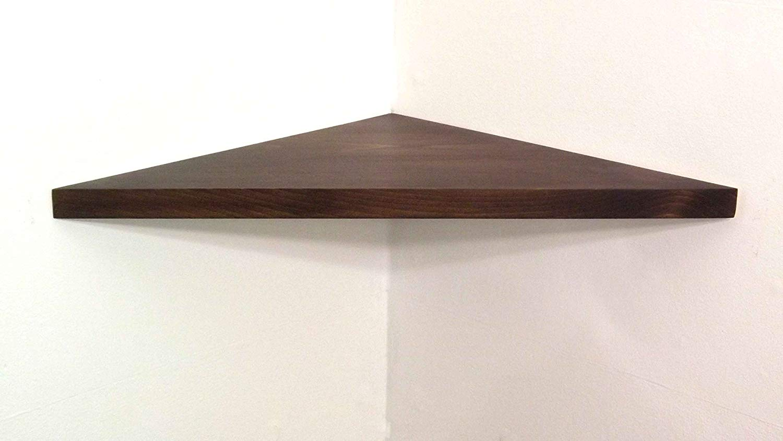 wide solid wood floating corner wall shelf with kona oak stain choose polyurethane finish handmade usa argos tall bookcase mdf mantel stainless steel ledge shelves sydney
