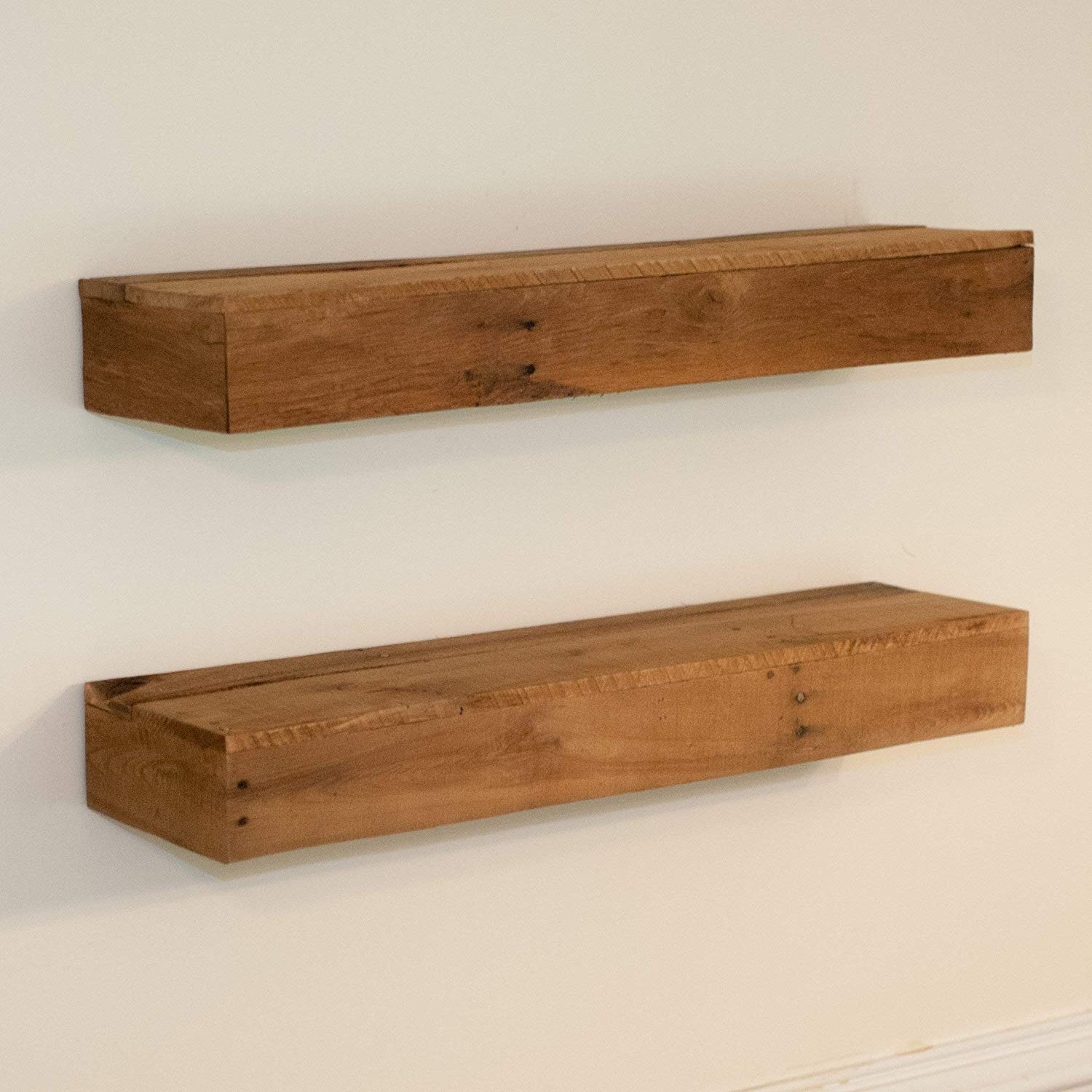 wood floating shelf rustic kitchen reclaimed shelves farmhouse hung with keyhole hooks included sink window best queen mattress under foyer coat hanger commercial foot interior