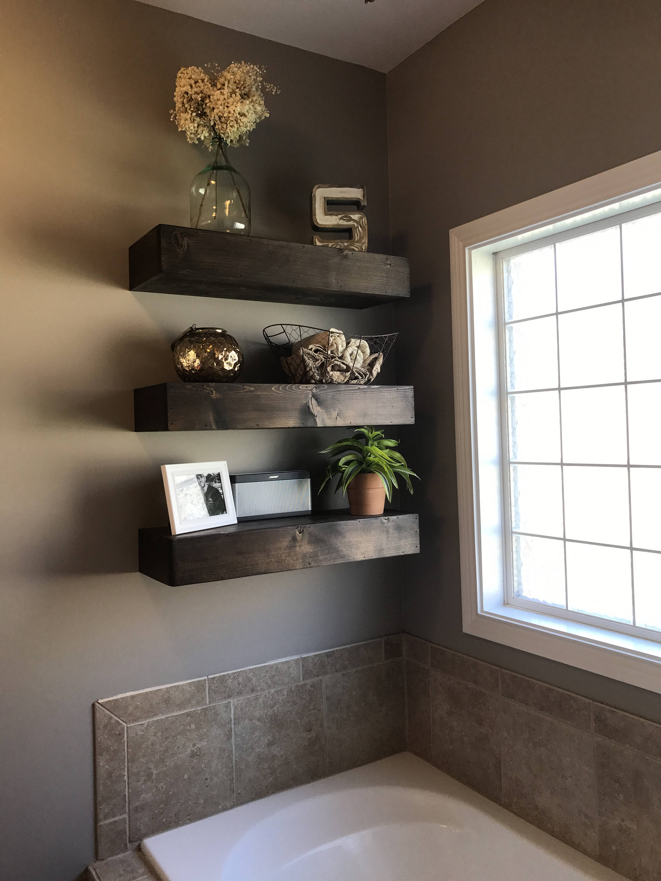 wood floating shelf shelves rustic bathroom etsy fullxfull wall desks for home use garage shelving systems oak ture ledge thin ikea inch wide corner entertainment hanging coat
