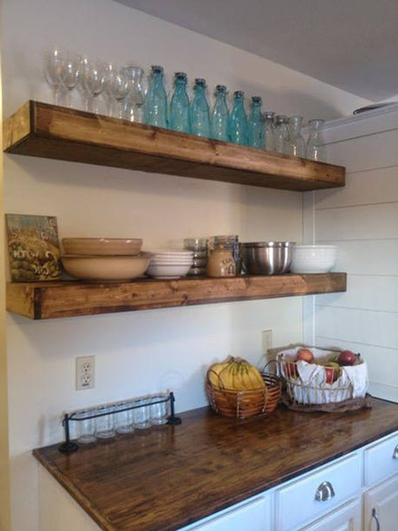 wood floating shelves inches deep rustic shelf etsy inch contemporary unit hanging tures and liquid plastic canadian tire slanted shoe diy ikea lack cabinet basin command hook key