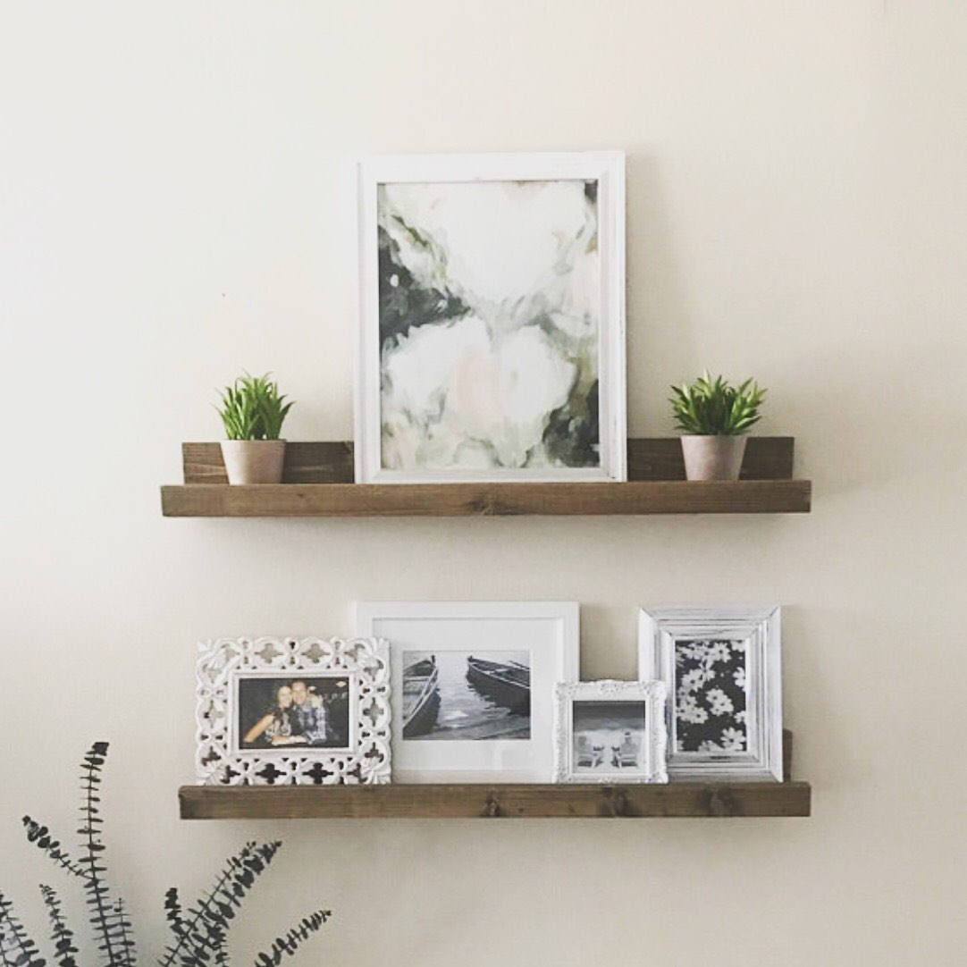 wood ture ledge gallery wall shelf wooden floating etsy fullxfull small mounted drawers garage storage solutions white iron brackets entryway cubbies and hooks free hanging