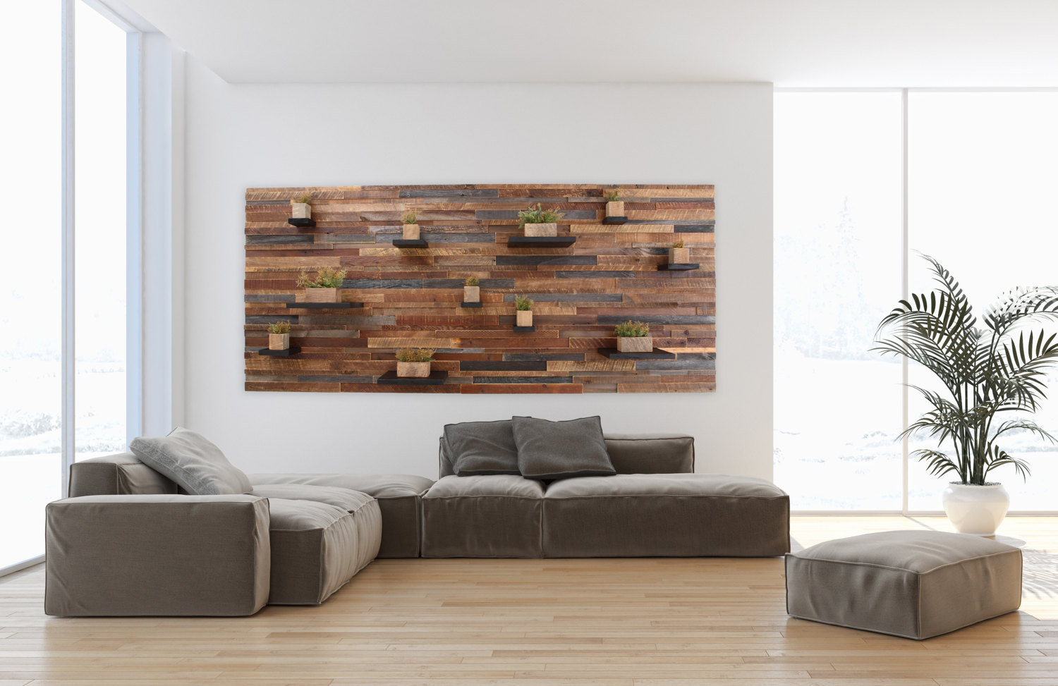 wood wall feature made with old reclaimed barnwood and random etsy fullxfull floating shelves large foldable desks for small spaces white oak ikea corner shelf living room wide