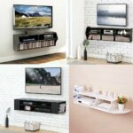 wood wall mount floating media center stand shelf console shelves for electronics details about dvd storage small mountable player stereo component inch corner sneaker solutions 150x150
