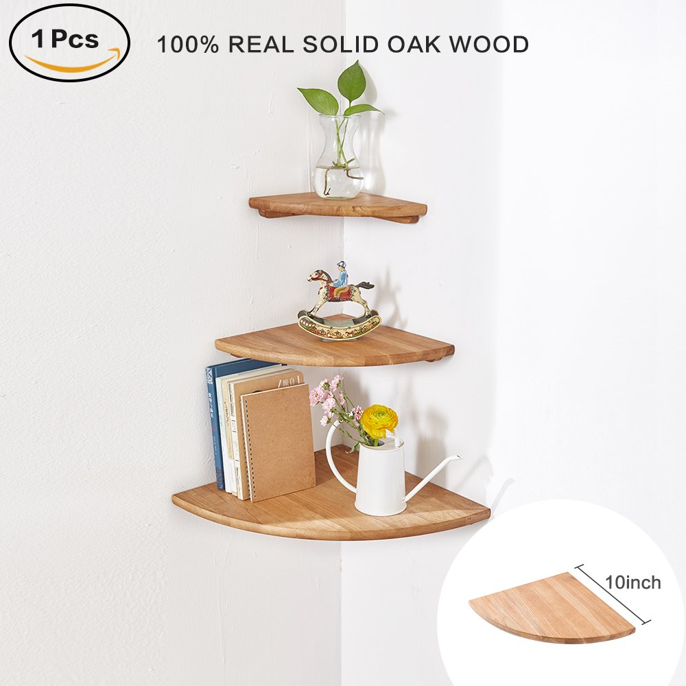 wooden corner shelf pcs round end oak wood hanging wall mounted capri floating shelves storage shelving table bookshelf drawers display racks bedroom office hafele countertop