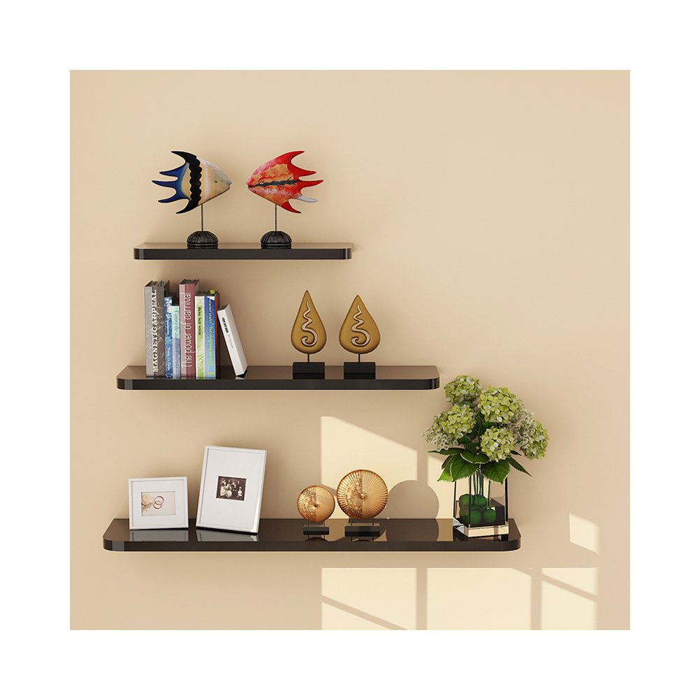 wudenhom wood floating shelves black decent gift set afhl wall ledge display storage long with hidden for funko pop art bedroom mitre ballarat prepac sonoma king platform ikea