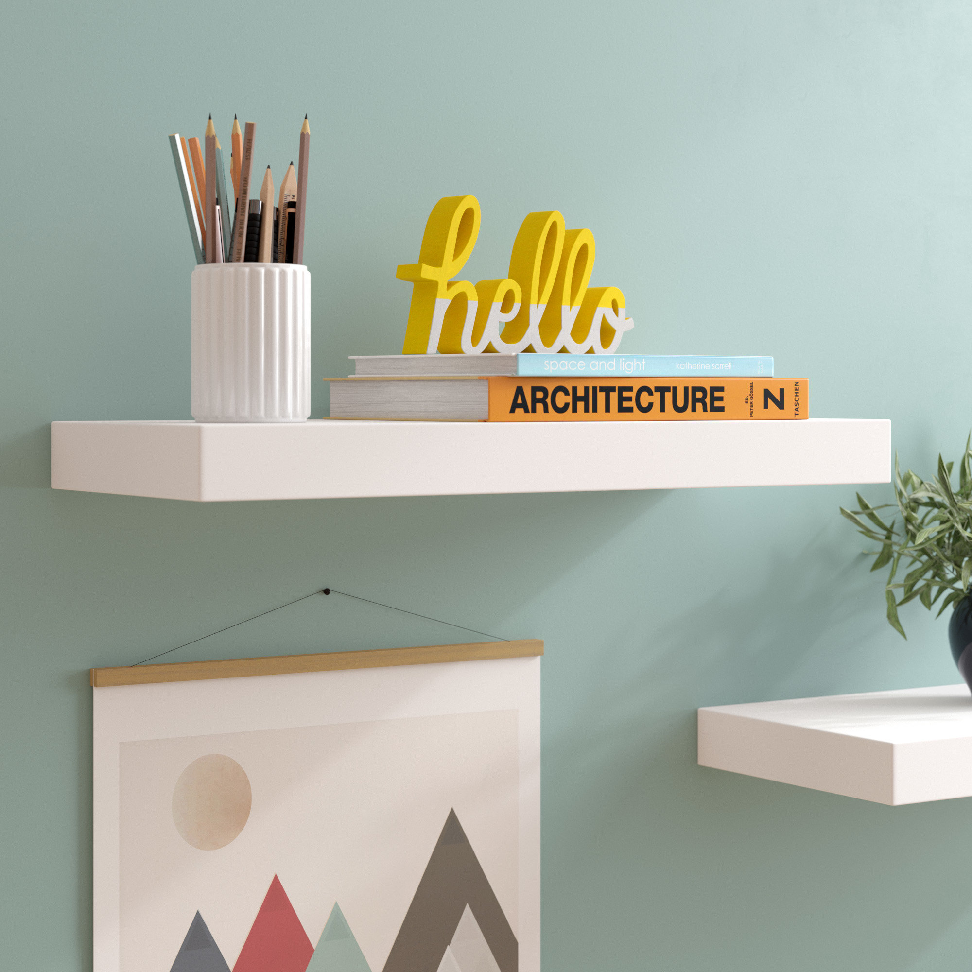 zipcode design isabella floating shelf reviews extra long white shelves commercial shelving units modern unique desktop desk ledge with hooks wall rack for coats and hats inch
